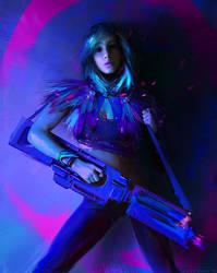 Girl With Gun by IvanKhomenko