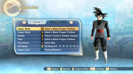 XV2 Goku's Black Proper Clothes