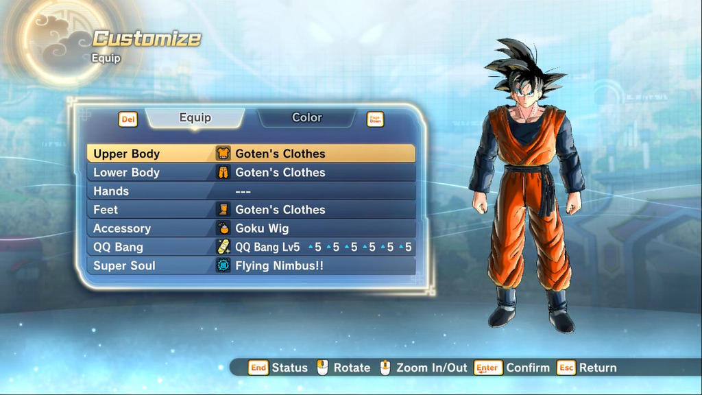 XV2 Gotenu0026#39;s Clothes For CaC [X2M] By Diegoforfun On DeviantArt