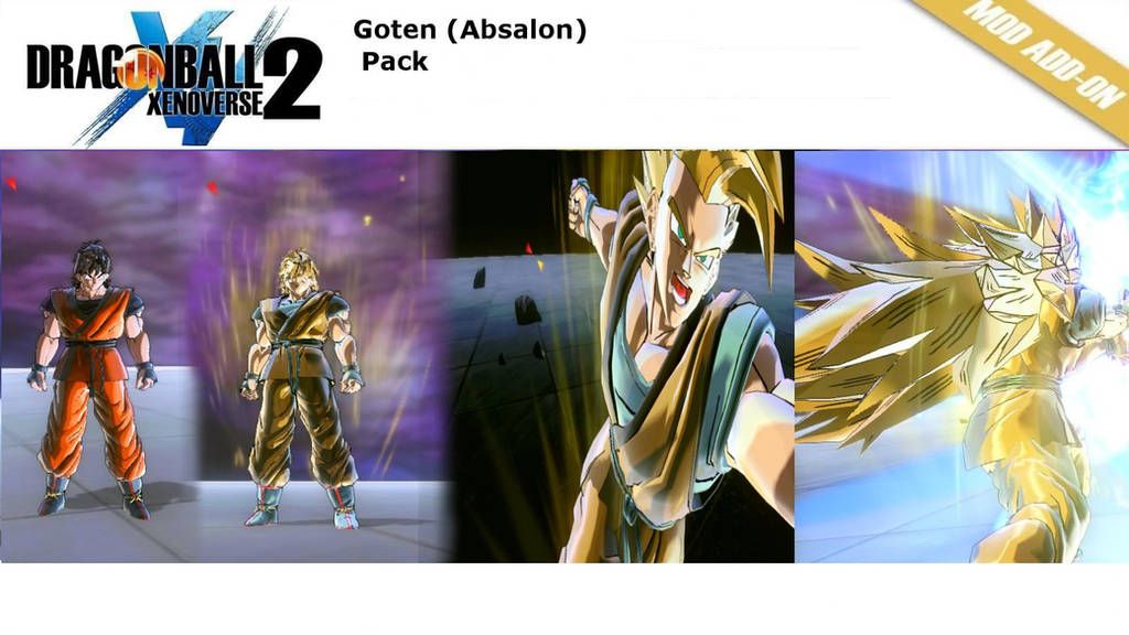 (XV2) Goten Absalon (Base-SSJ3)v2 [X2M] by diegoforfun