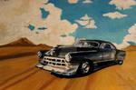 Vintage Black Cadillac Painting