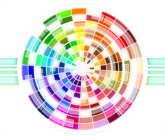 Multicolored Wheel Abstract