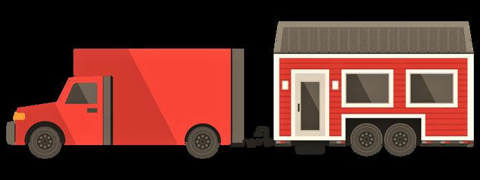Tiny  House  On Wheels Clipart