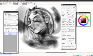 Texture effects in Paint tool SAI 2 .