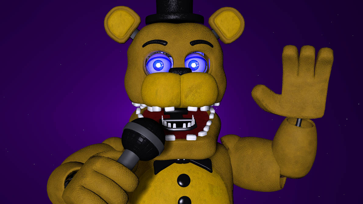 SFM/FNAF] Unwithered Golden Freddy Purple Light by Spy-Ghost