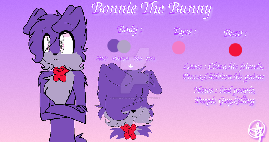 Bonnie the bunny reference mine by inesthelostangel on deviantart