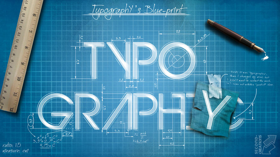 Typography 39 s blueprint by second creations on deviantart for Web design blueprints