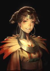 Golden Phoenix -The Scroll Of Taiwu Fan Art