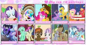 Top 10 My little pony couples by Pandalove93