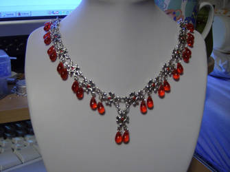 Red goth necklace by specialmajick