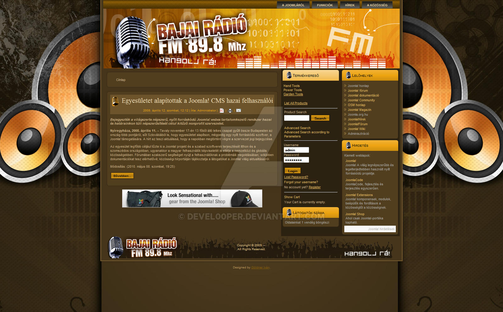 Radio Joomla Templates Joomla Web Template - Radio St by devel00per on DeviantArt