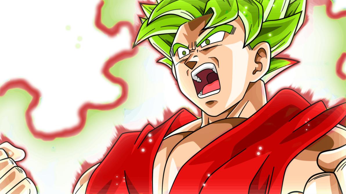 Goku Super Saiyan Green Kaioken by RodrigoGamer98