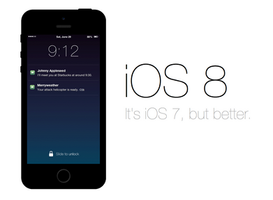 iOS 8 Lock Screen by r2ds