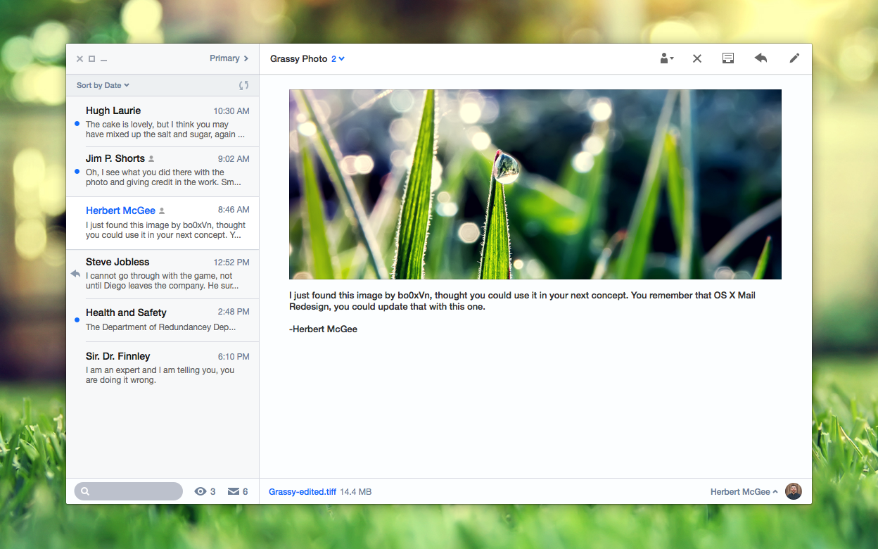 OS X Mail Redesign by r2ds