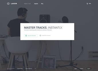 Landr Website Concept by r2ds