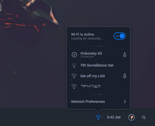 Solus OS Wi-Fi Panel Mockup by r2ds