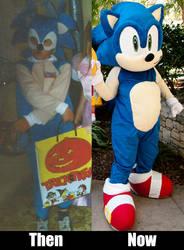 Sanic cosplaying evolution