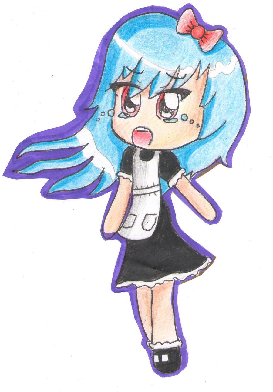 Crying Chibi Maid Girl by SakuraPai on deviantART