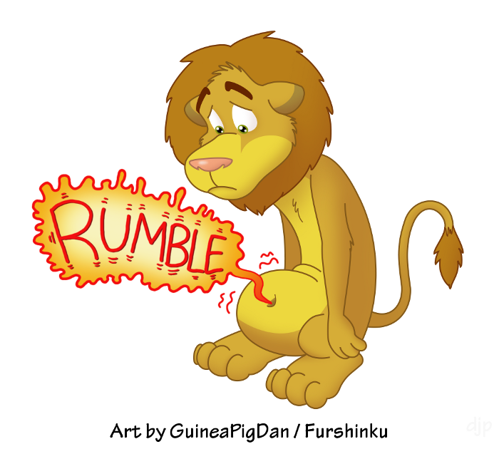 Belly Rumble Furry: Hungry Lion -color- By GuineaPigDan On DeviantArt