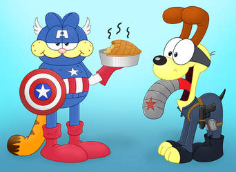 Captain Furmerica and the Winter Slobber by GuineaPigDan