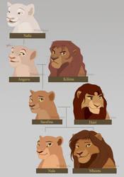 Nala's Family Tree - Old Characters by WhiteKimya
