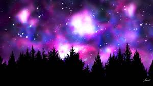 Galaxy Sillhouette by b31a1