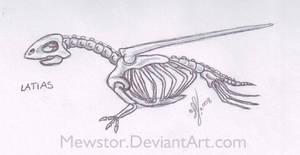 Latias Skeleton by Mewstor