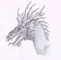Dragon head- again by Mewstor