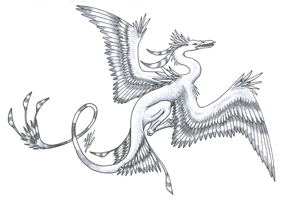 CraneDragon by Mewstor