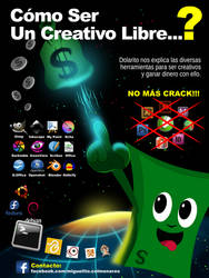 Poster Creativos Libres. Made with Inkscape
