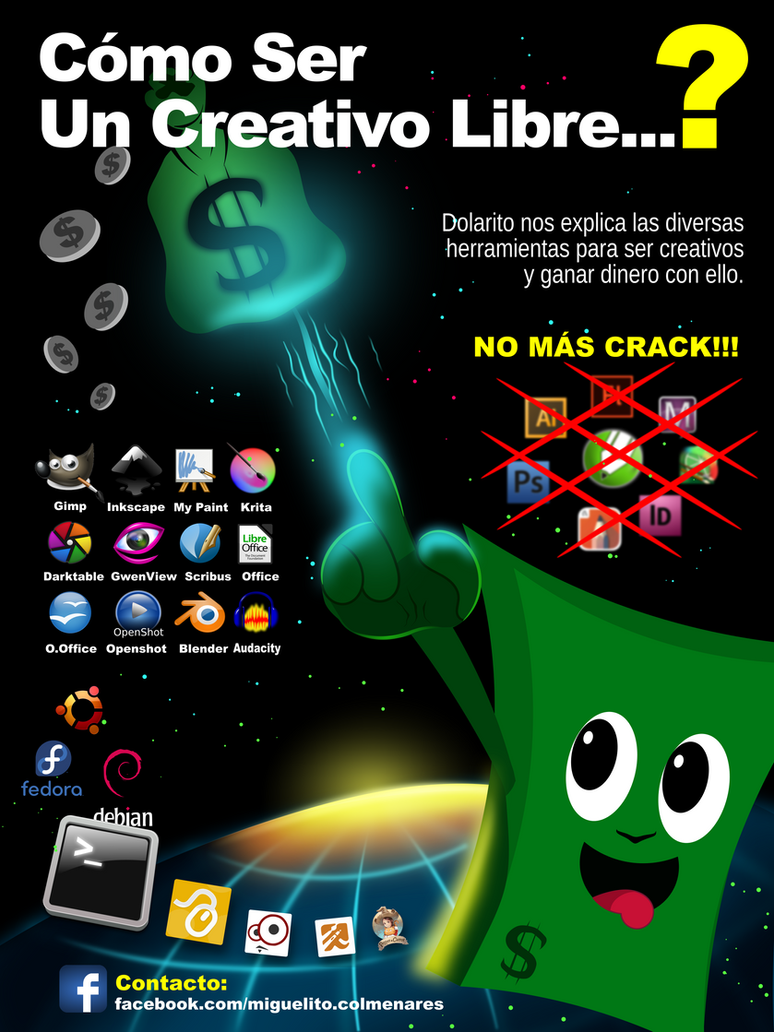 Poster Creativos Libres. Made with Inkscape by BikerMice2015 on ...