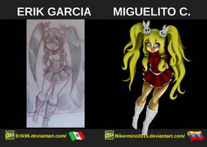 Digital Painting, Comparacion De Personajes 03