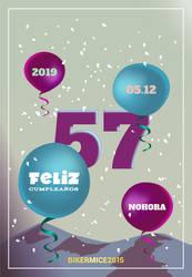 Design | Flyer Birthday #14 | 100% Vector by BikerMice2015