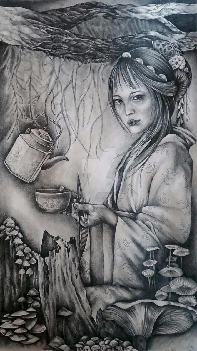 mushroom tea by aliceinsane