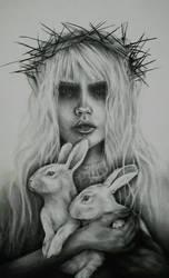 Albino rabbits