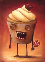 Zombie Cupcake by Kung-Fu-Kiwifruit