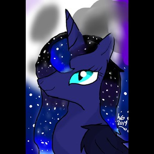 Princess moondust by wolfdrawing2