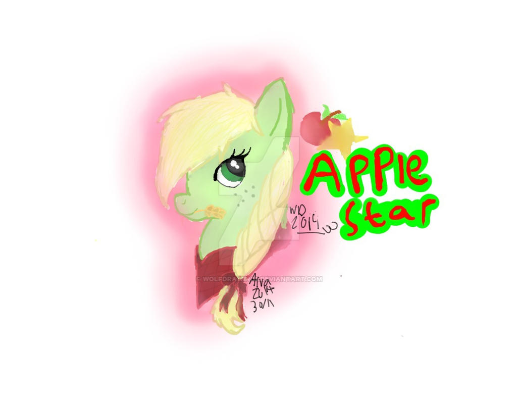 Apple Star by wolfdrawing2