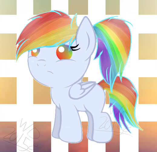 Filly Rainbow Flare by wolfdrawing2