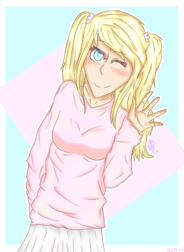 Me in anime style by wolfdrawing2