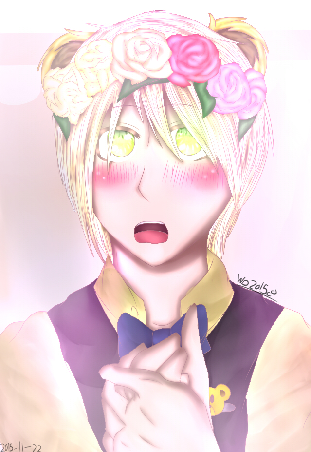 Flower crown goldie by wolfdrawing2