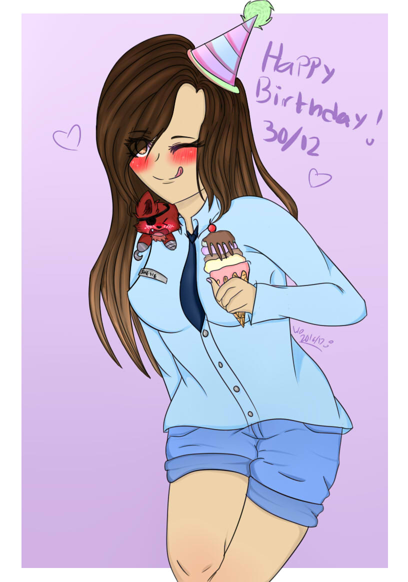 Happy late birthday shesie! (gift) by wolfdrawing2