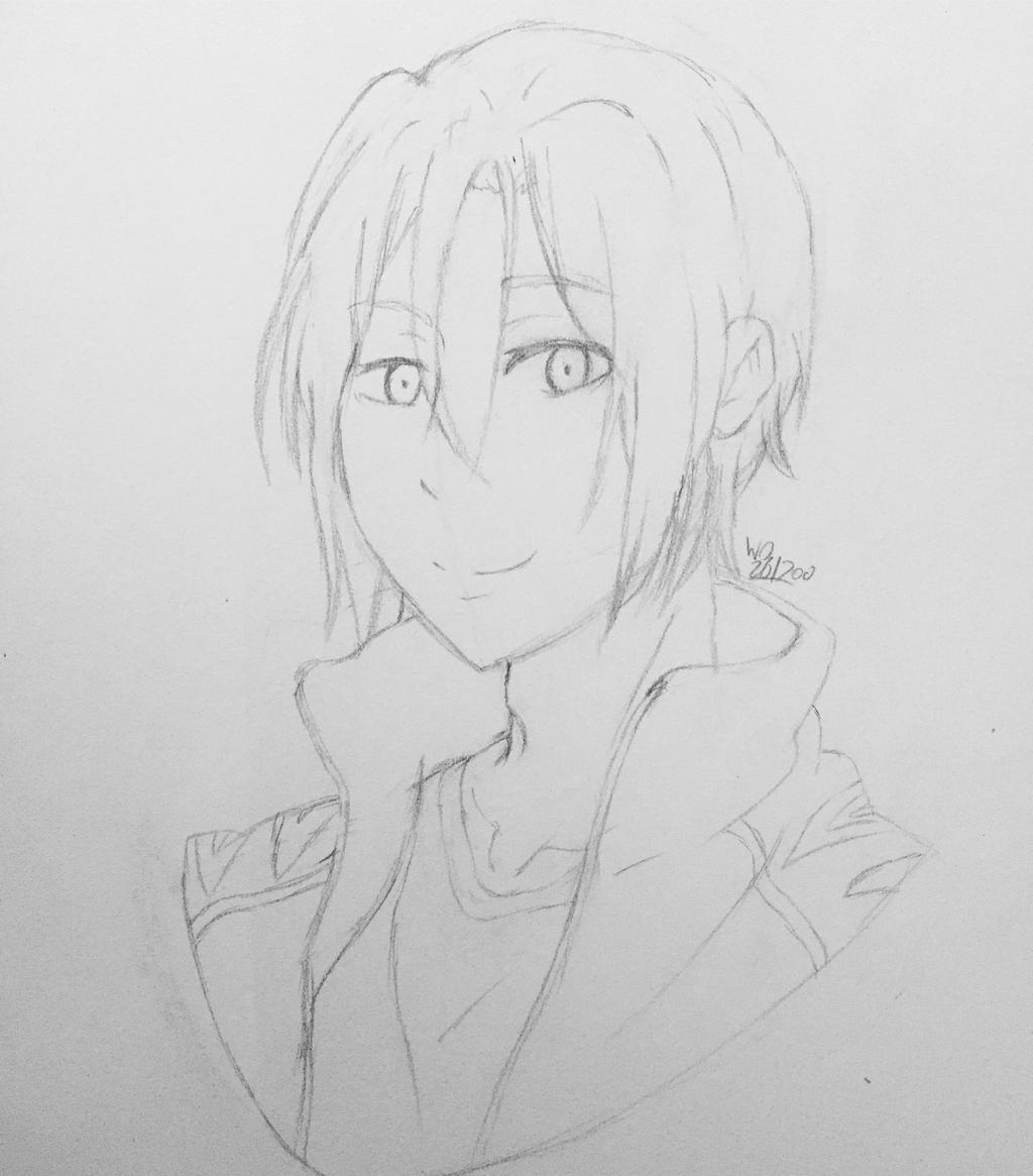 Rin matsouka by wolfdrawing2