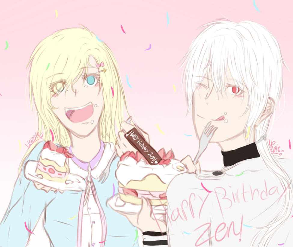 Happy Bday Zen! by wolfdrawing2