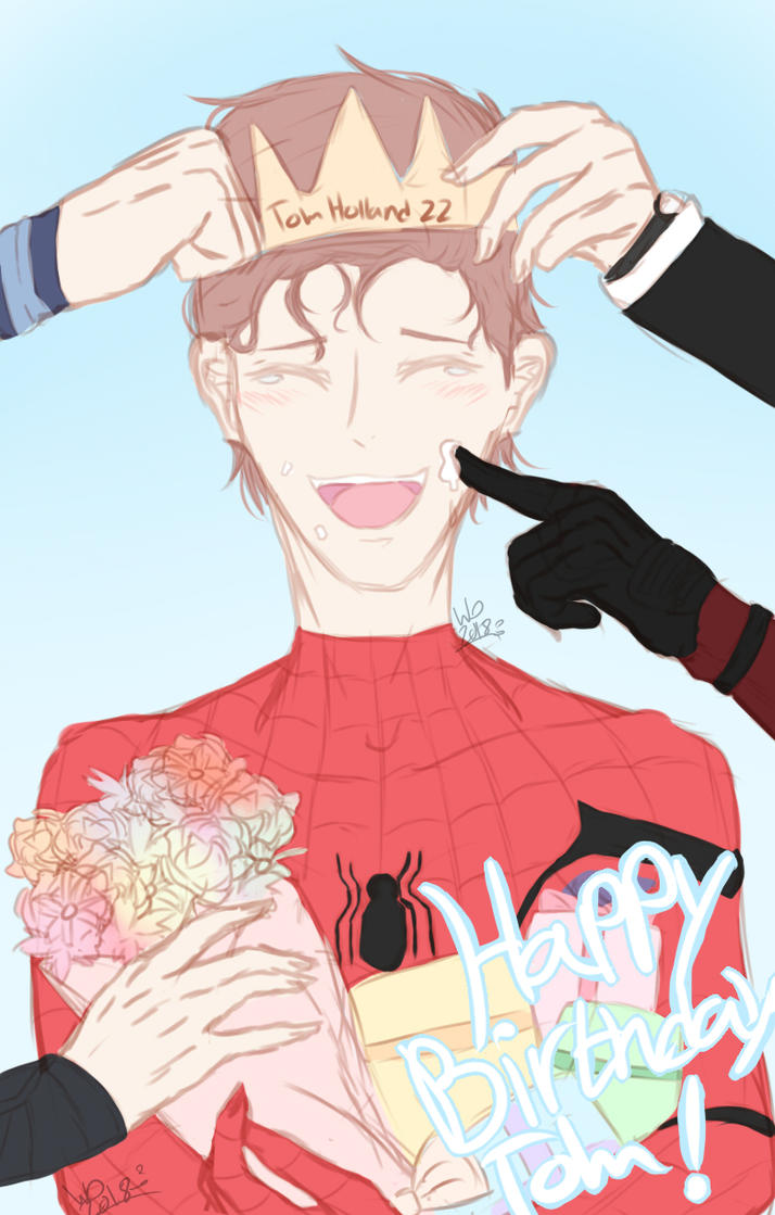 Happy birthday Tom Holland! by wolfdrawing2