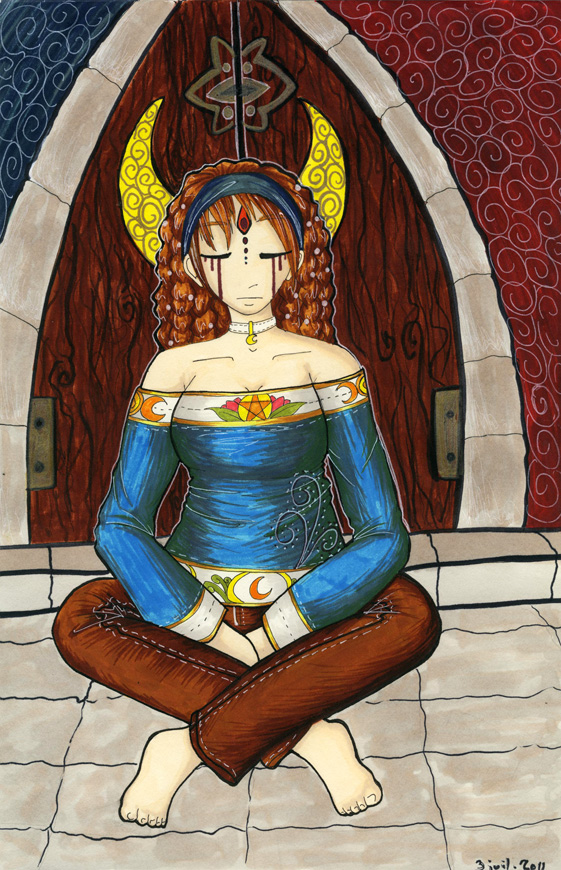 The High Priestess - Ianna by Khalija