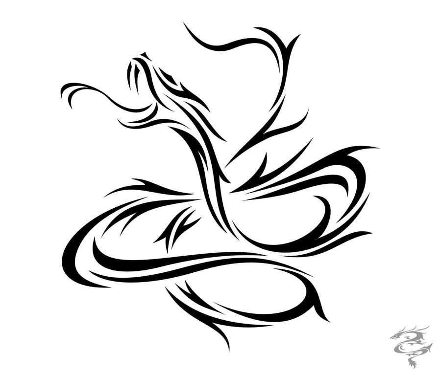 Snake Tattoo Line Drawing : Chinese zodiac tattoo snake by visuallyours on deviantart