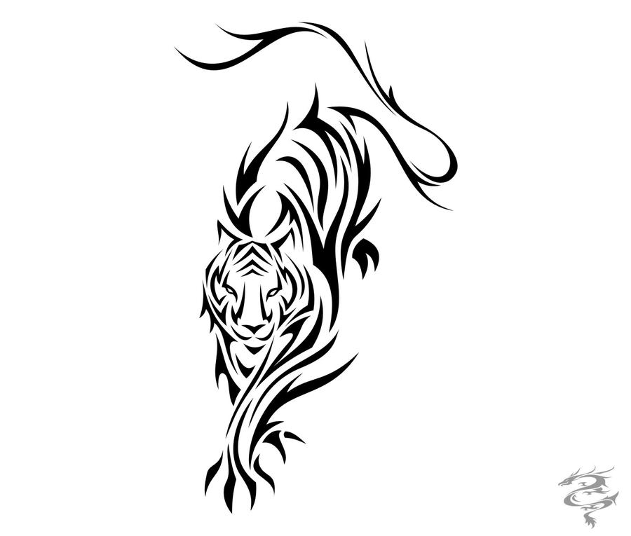 Chinese Zodiac Tattoo Tiger by visuallyours