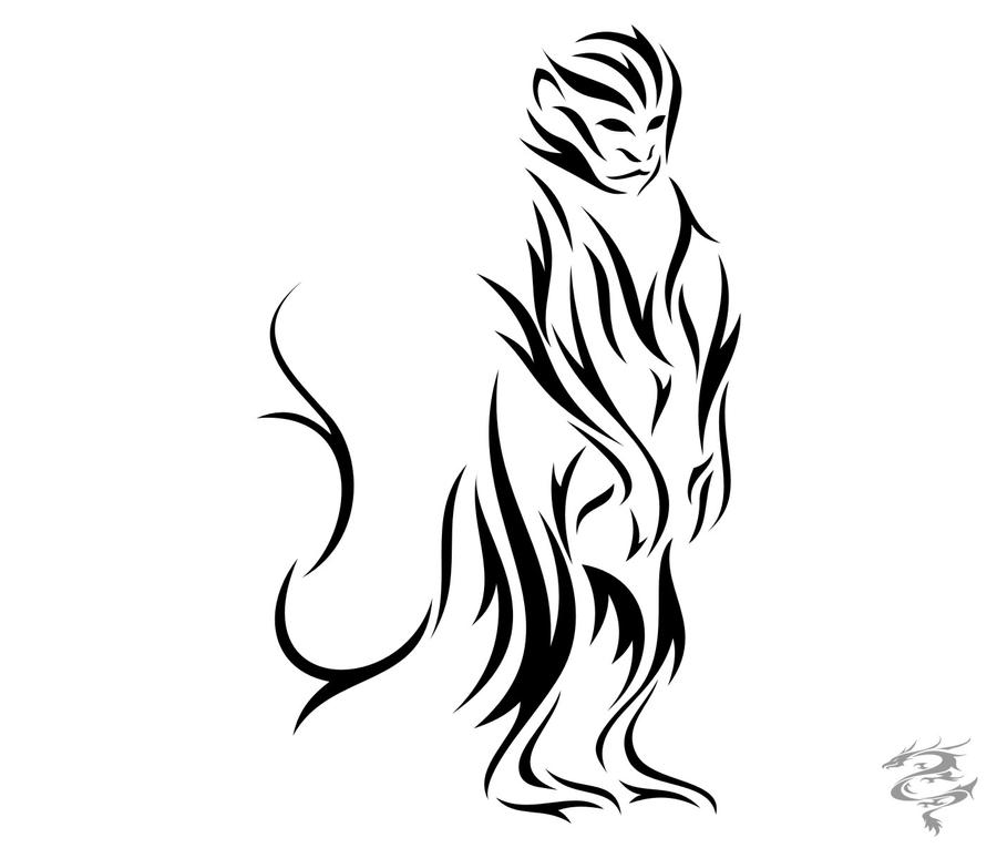 chinese zodiac tattoo monkey by visuallyours on deviantart. Black Bedroom Furniture Sets. Home Design Ideas
