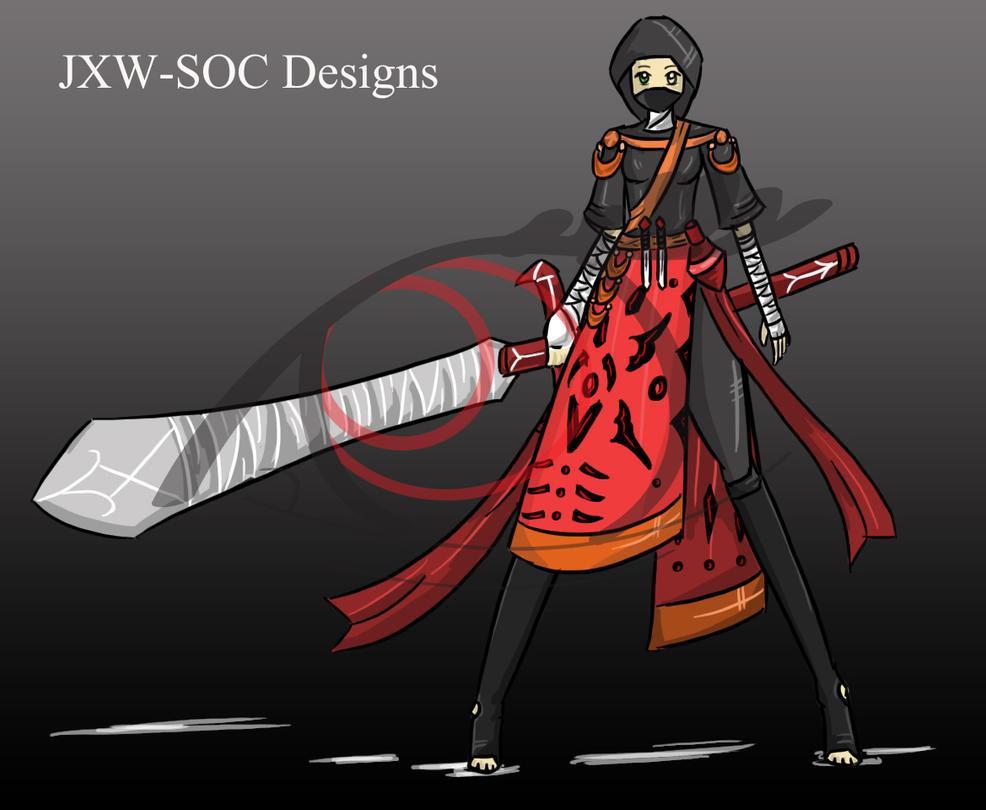 Crimson Ninja Full OC adopt [CLOSED] by JxW-SpiralofChaos